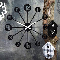 Koziol Pinball Black Wall Clock
