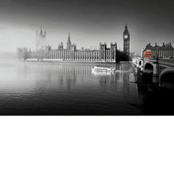 London Fog at Parliment Print