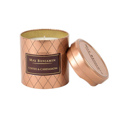 Max Benjamin Coffee & Cardamom Scented Candle in Tin