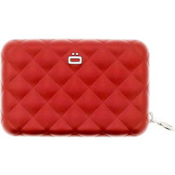Ogon Quilted Zipper Aluminium Purse