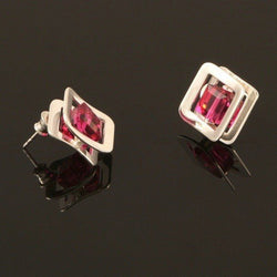 Ostrowski Fuchsia X-Play Stud Earrings