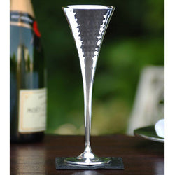 Pair of Silver Champagne Flutes