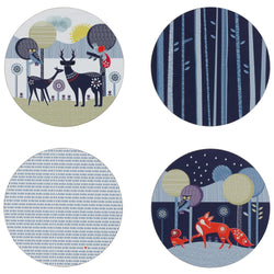 Wild & Wolf Folklore 4 Placemats Set