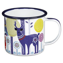 Wild and Wolf Enamel Mug