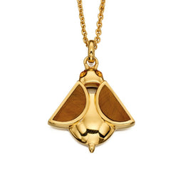 Orla Kiely Bee Pendant in gold plated sterling silver