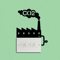 CO2 Factory Reminder Sticker - Double
