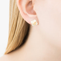 Orla Kiely Daisy Chain Cream Flower Stud Earrings
