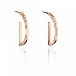 Fiorelli  Morden Silver Rose Gold Semicircle Hoop Earring
