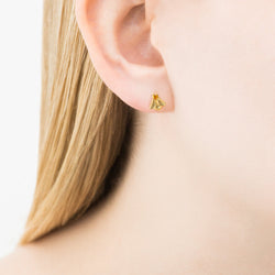 Orla Kiely Bee Studs in gold plated sterling silver