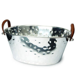 Leather Handled Half Size Champagne Bath
