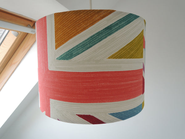 Handmade Lampshade in Prestigious Union Jack Fabric