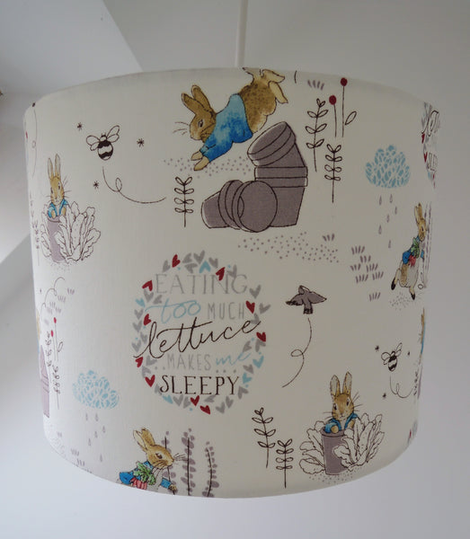 New! Handmade Lampshade In Beatrix Potter Fabric