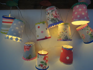 New! Handmade Fairy Light Lanterns in Cath Kidston Fabrics