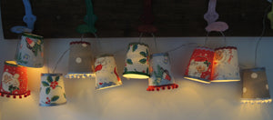 New! Limited Edition- Handmade Christmas Cath Kidston Fairy Light Lanterns