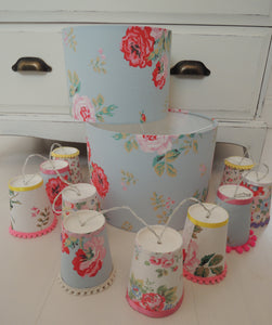 Handmade Lampshade in Cath Kidston Antique Rose Bouquet fabric
