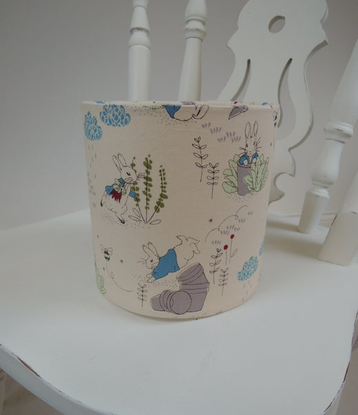 Handmade Lampshade in Beatrix Potter Fabric
