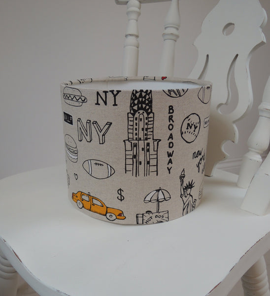 NEW!  Handmade Lampshade in fabulous New York fabric