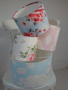 Handmade Drum Lampshade in Cath Kidston Floral Fabrics