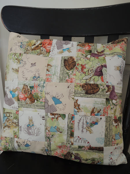 Handmade Cushion Cover Beatrix Potter fabrics