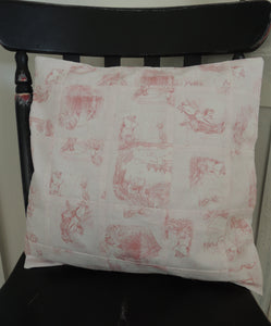 Handmade Jemima Puddleduck Patchwork Cushion Cover