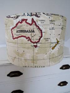 Handmade World Map Lampshade