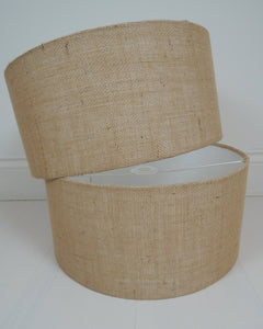 Handmade Lampshade In Natural Hessian Fabric