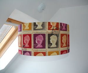 Handmade Funky Stamps Lampshade