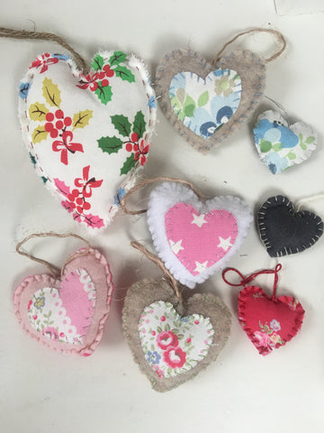 Christmas Hanging Hearts