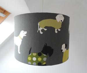 Handmade Lampshade in Man's Best Friend Fabric