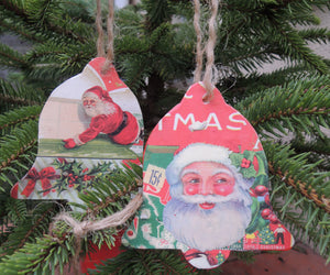 Handmade Decoupage  Christmas Decorations