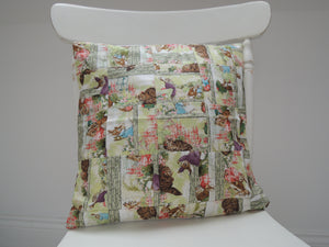 Handmade Beatrix Potter Patchwork Cushion Cover