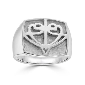 Open image in slideshow, Square HopeStrong® Signet Ring