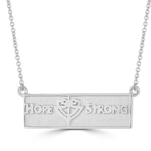 Reversible Horizontal Bar HopeStrong® Pendant