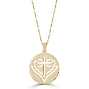 Open image in slideshow, Round Cut-Out HopeStrong® Pendant