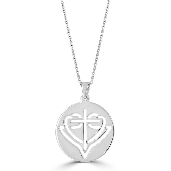 Round Cut-Out HopeStrong® Pendant