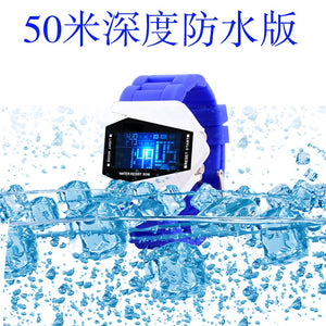Pin kasi fashion creative LED electronic watches student watches 50m waterproof aircraft