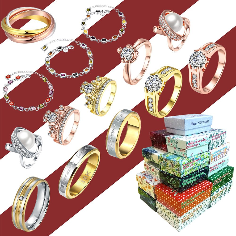 Buy 3 Get 1 Free Christmas Festive Box Jewelry Fashion Accessories