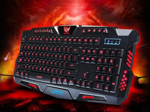 Urban square M200 three-color backlit keyboard mechanical feel gaming keyboard