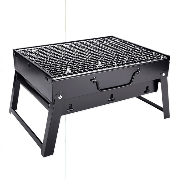 Small black carbon grill barbecue household small charcoal stove stainless steel grill black steel