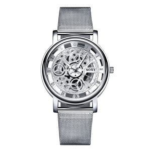 SOXY mesh with business men's watch hollow quartz watch