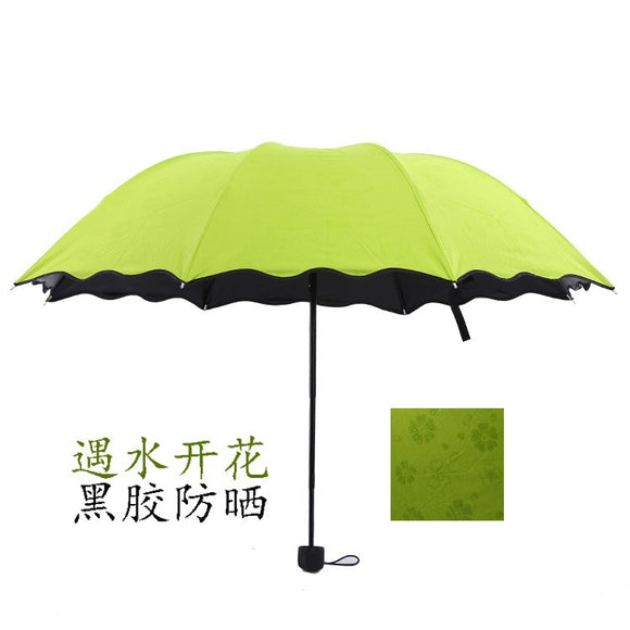 Lotus leaf water flowering umbrellas Vinyl super UV sunshade sun umbrella creative three folding um