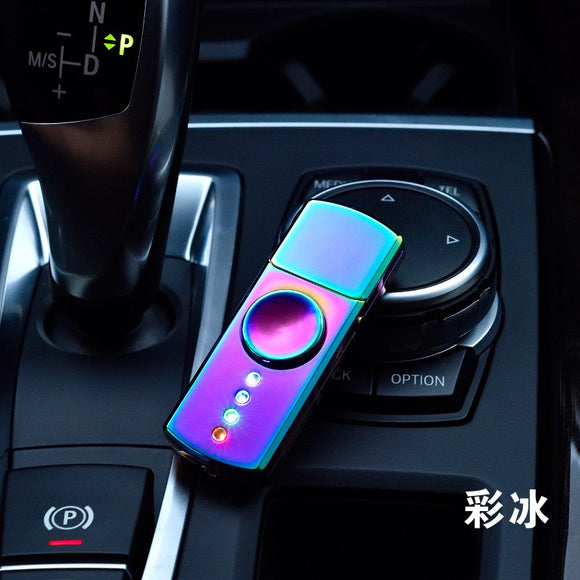 Creative colorful glare fingertip gyro lighters TH-730 charging gyro cigarette lighter