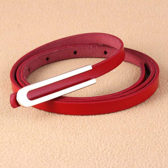 Noah new Korean fashion leather ladies belt deduction leather thin belt women