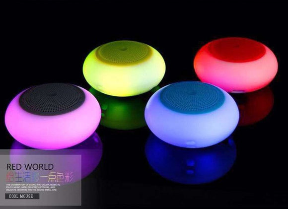 Crown A6 LED Bluetooth Audio Colorful Breath Light Card Small Speaker Portable Night Light Subwoofe