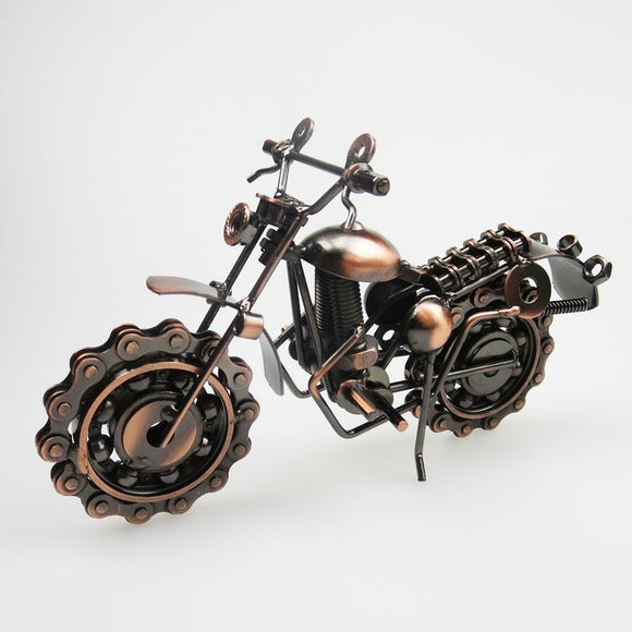 Metal crafts ornaments home decorations large wrought iron motorcycle model creative gifts