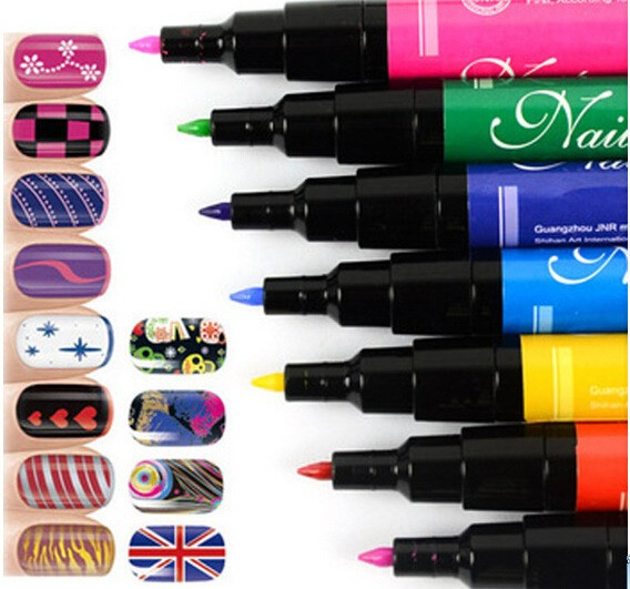New Hot Designs Painting Pen Diy Nail Polish Personality Double Oil