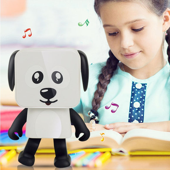 Dancing Puppy Robot Bluetooth Speaker Cartoon Dog Fun Dancing Wireless Bluetooth Speaker