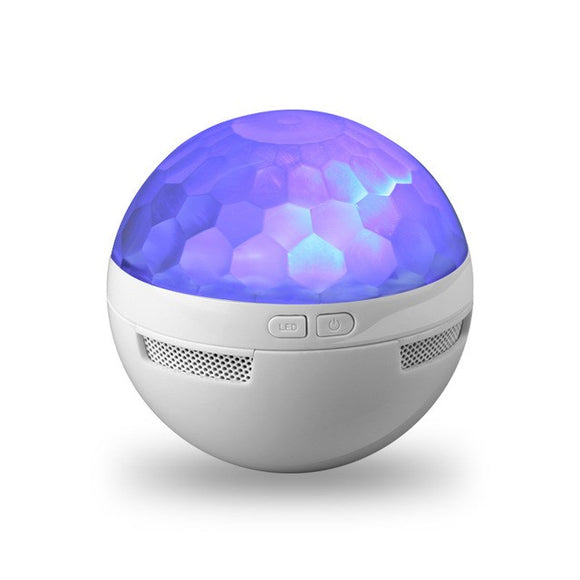 New Mini Bluetooth Speaker Crystal Magic Ball Bluetooth Speaker Colorful LED Small Sound KTV Bar Li