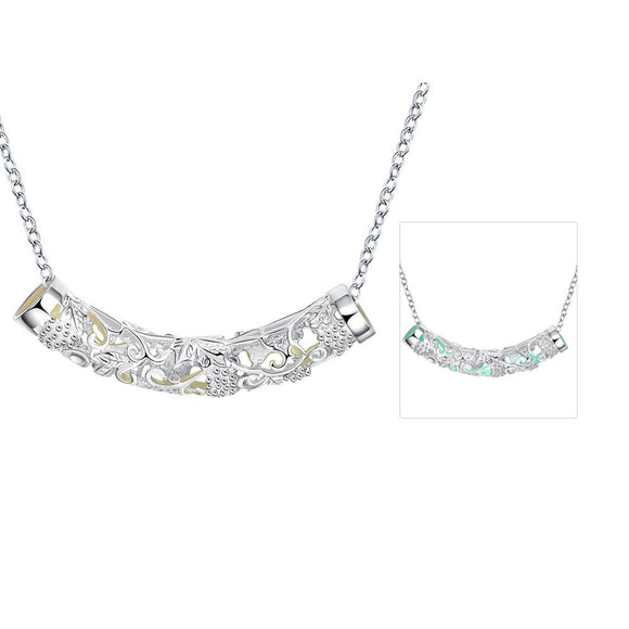 Luminous series of fashion personality luminous necklace YGN031-B Cyan