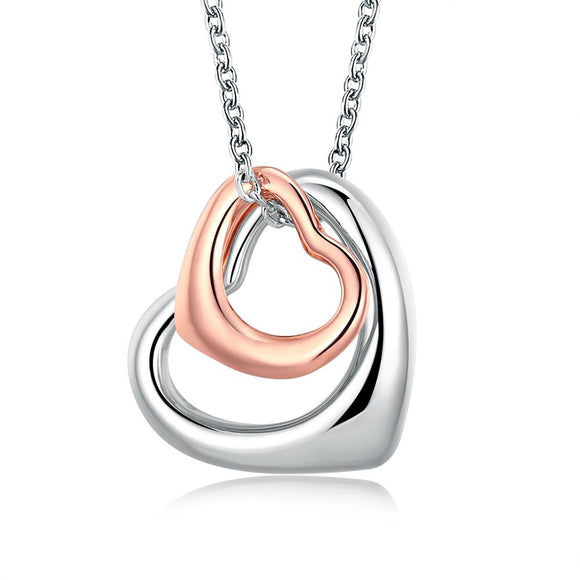 Fashion K gold sweet hollow heart-dependent pendant AKN005 color separation